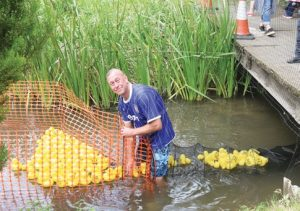Simon Holley gathers in the racing ducks